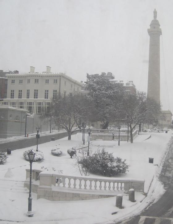 Snow monument