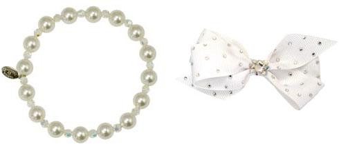 Tt pearl bracelet bow