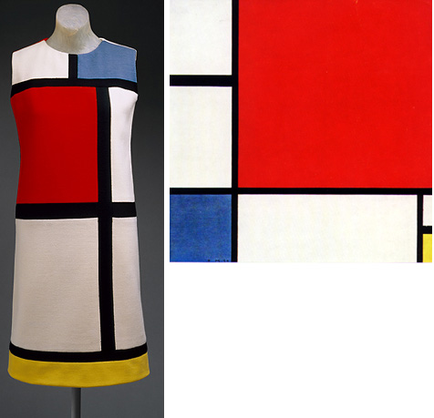 Mondrian dress and painting