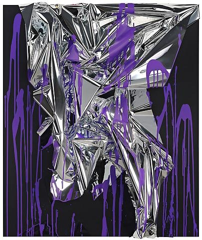 Untitled 2010 purple and silver