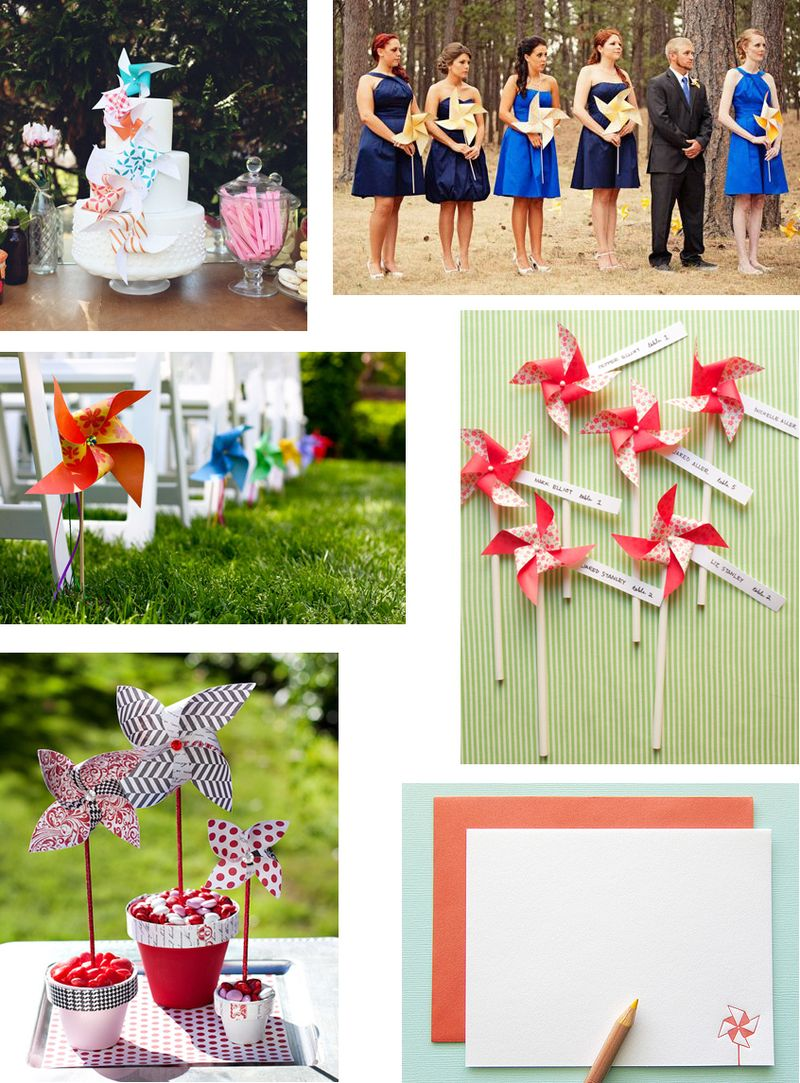 Pinwheel.wedding.collage