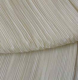 Crinkled silk