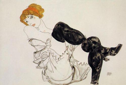 Schiele-black-stockings