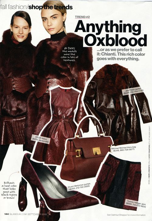 Glamour-oxblood