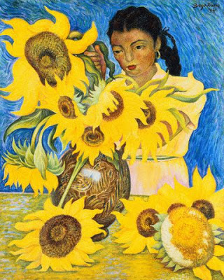 Diego-Rivera-girl-with-sunflowers
