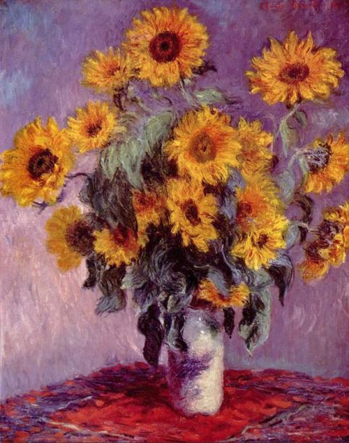 Bouquet-of-sunflowers-claude-monet