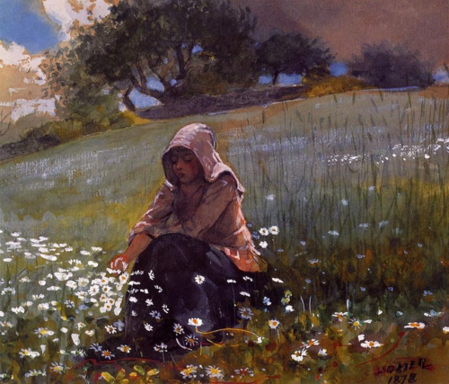 Homer-GirlandDaisies1878