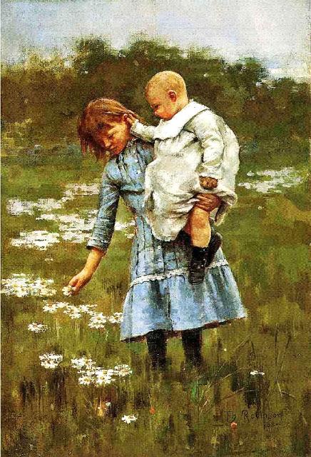 Theodore+Robinson-In-a-Daisy-Field-1884