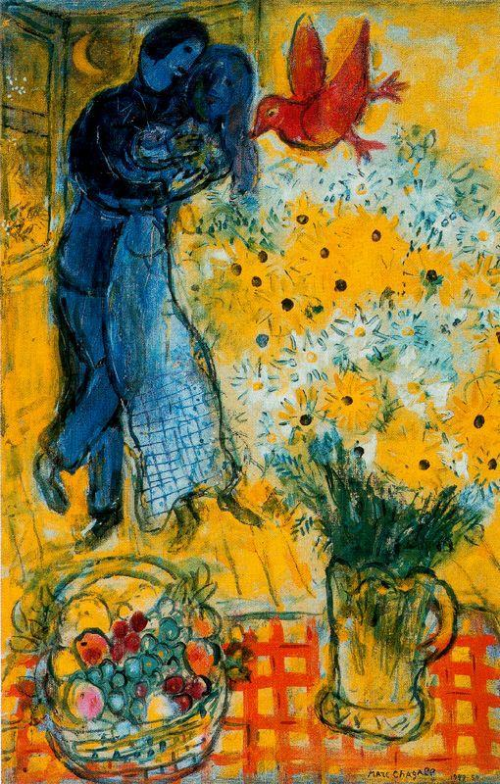 Chagall-lovers-and-daisies