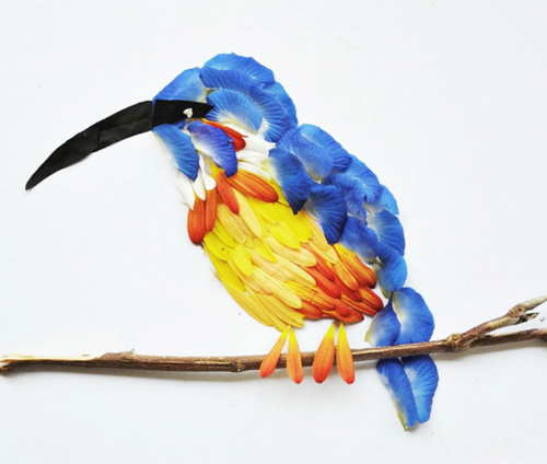 Red-petal-bird