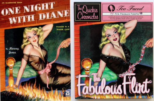 One Night with Diane = Too-Faced the Fabulous Flirt Quickie Chronicle palette