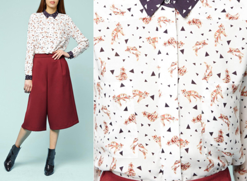 Paul & Joe fall 2014 fox shirt