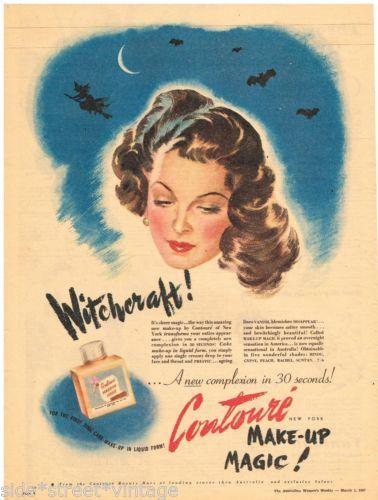 Contoure makeup magic, 1947