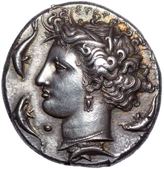 Coin featuring Arethusa