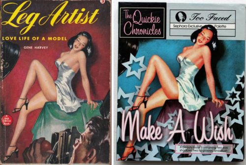 Leg Artist pulp novel = Too-Faced Make a Wish Quickie Chronicle palette