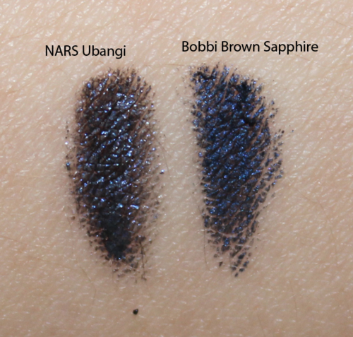 NARS Ubangi vs. Bobbi Brown Sapphire comparison swatch