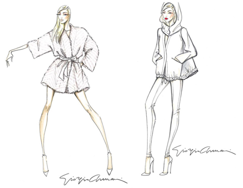 Armani Luxury White capsule sketches