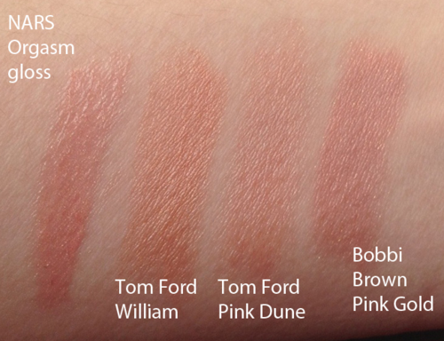 Tom Ford William and Pink Dune swatches and comparisons