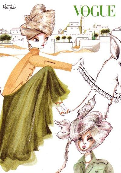 Ruben Toledo - Vogue illustration