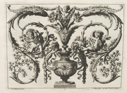 Work by 17th century ornament engraver Jean Lepautre