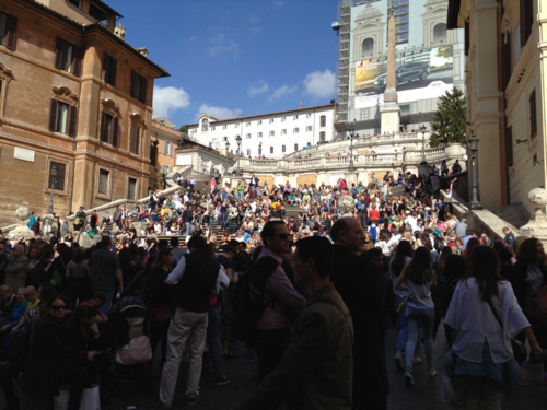 Spanish Steps - so crowded!