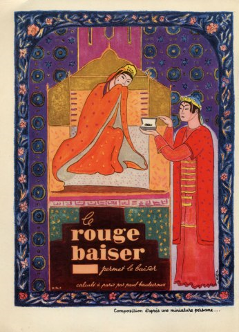 1947 Rouge Baiser ad by Charles Kiffer