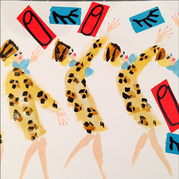 Portrait of Estee Lauder for Bergdorf Goodman by Donald Robertson