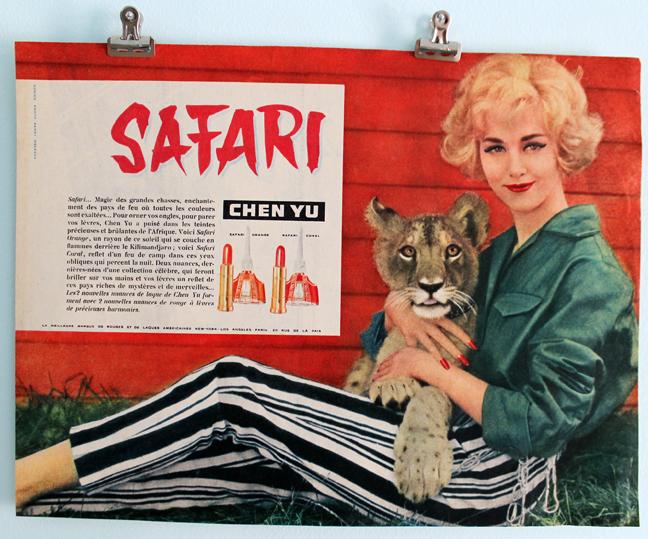 Chen Yu Safari ad, 1959