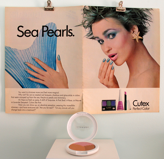 Cutex ad and Elizabeth Arden Sunkissed Pearls bronzer