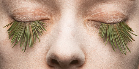 Natural false eyelashes by Mary Graham