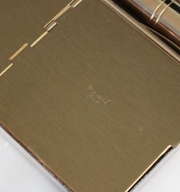 Volupté silver tone clutch - powder compartment