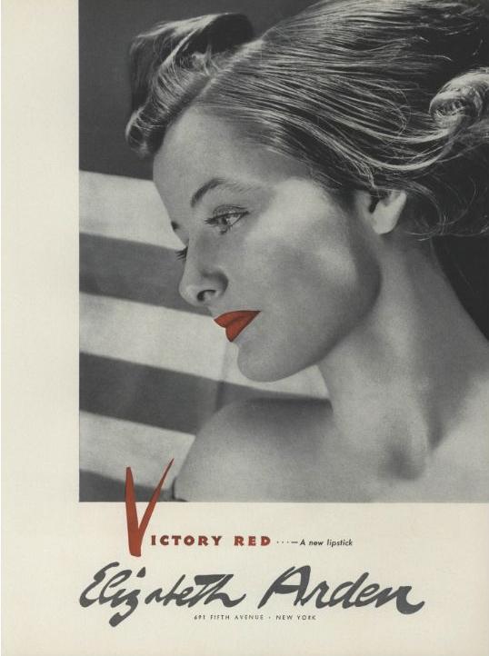 Elizabeth Arden Victory Red ad, 1941