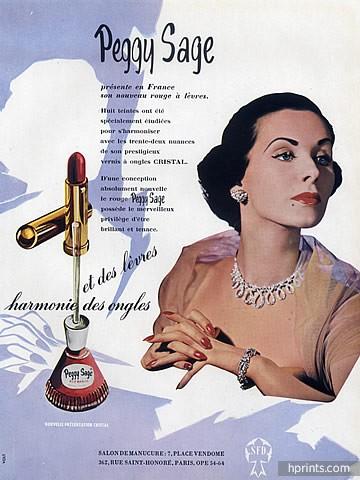 Peggy Sage ad, 1951