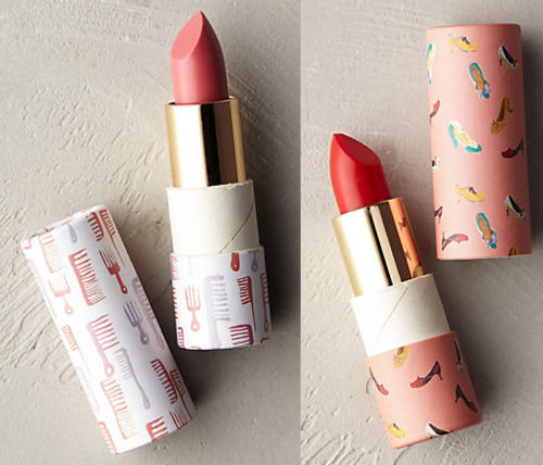 Lip balms with packaging by Danielle Kroll