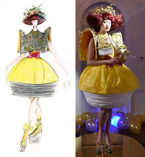 Guo Pei/MAC dress