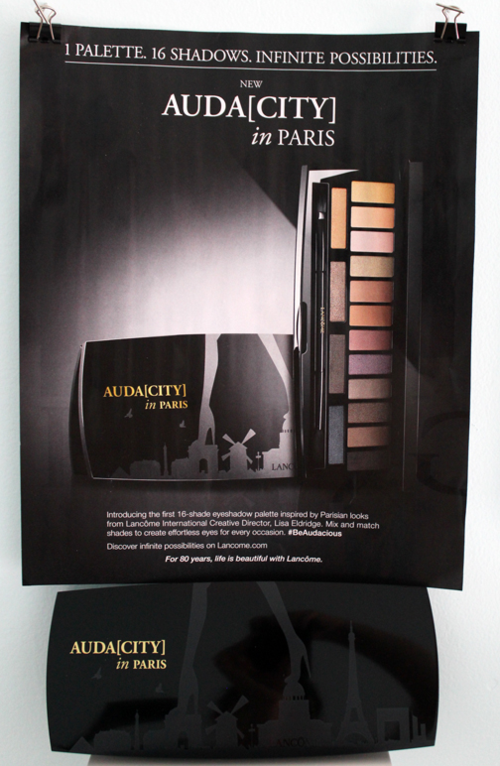 Lancome Auda[city] palette and ad