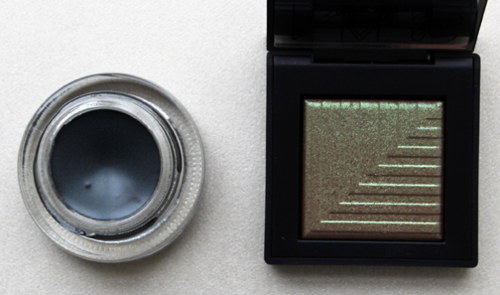MAC Palm Tree fluidline and NARS Pasiphae eye shadow