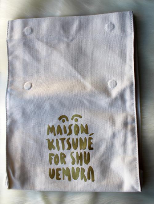 Maison Kitsune for Shu Uemura tote
