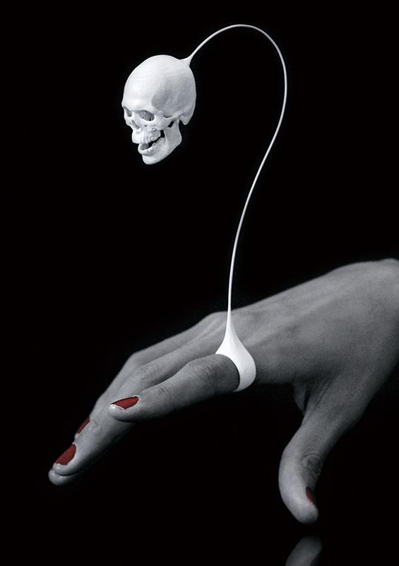 Joji Kojima skull ring, 2010