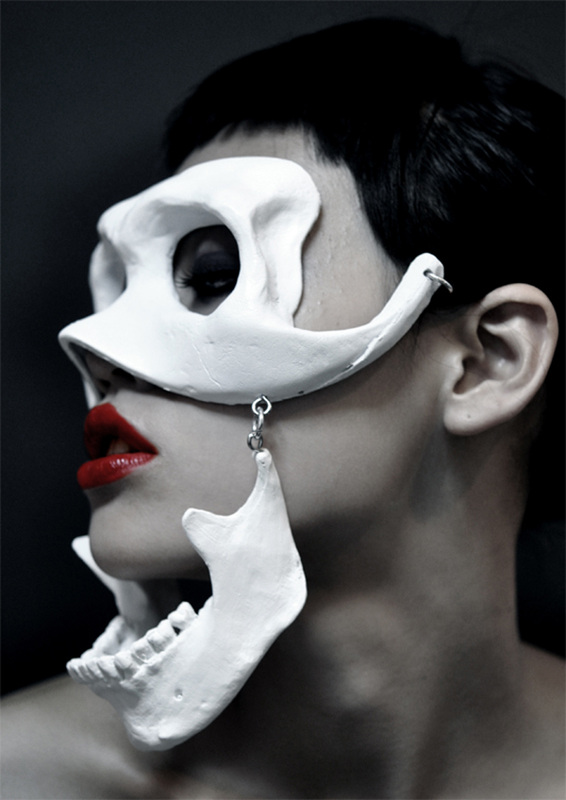 Joji Kojima, skull mask with hinged jaw, 2010