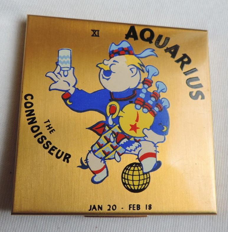 Elgin American Zodiac compacts - Aquarius