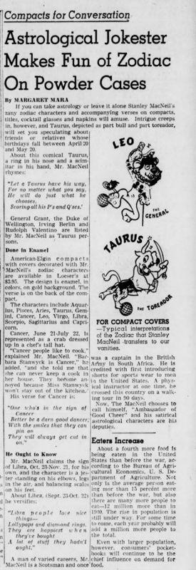 Brooklyn Daily Eagle article on Stanley MacNiel, 1948
