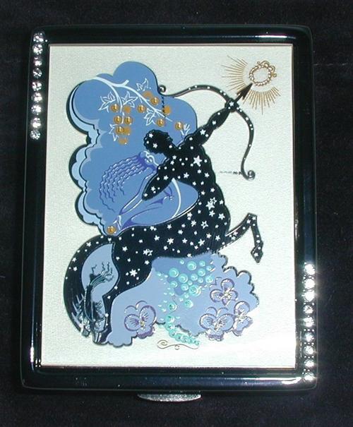 Erté Estée Lauder zodiac compact, Sagittarius