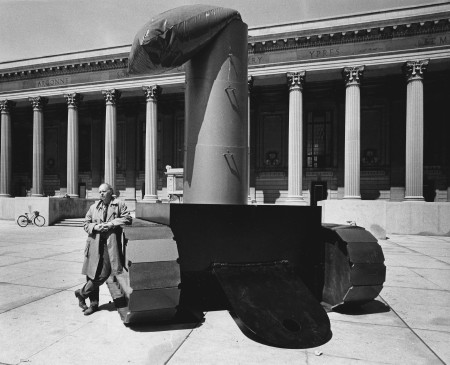 Oldenburg with Lipstick (Ascending) Caterpillar Tracks, 1969