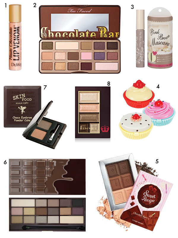 Foody-scented makeup highlights, 2012-2014