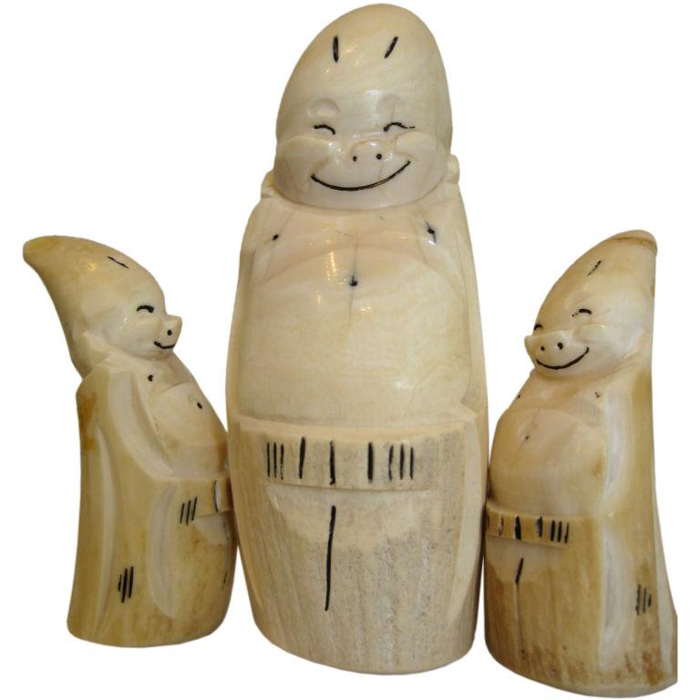 Billiken carving