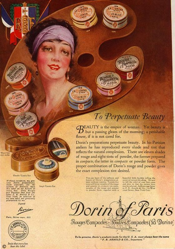 Dorin of Paris ad, 1922
