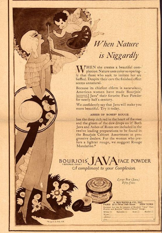 Bourjois Java face powder ad, 1922