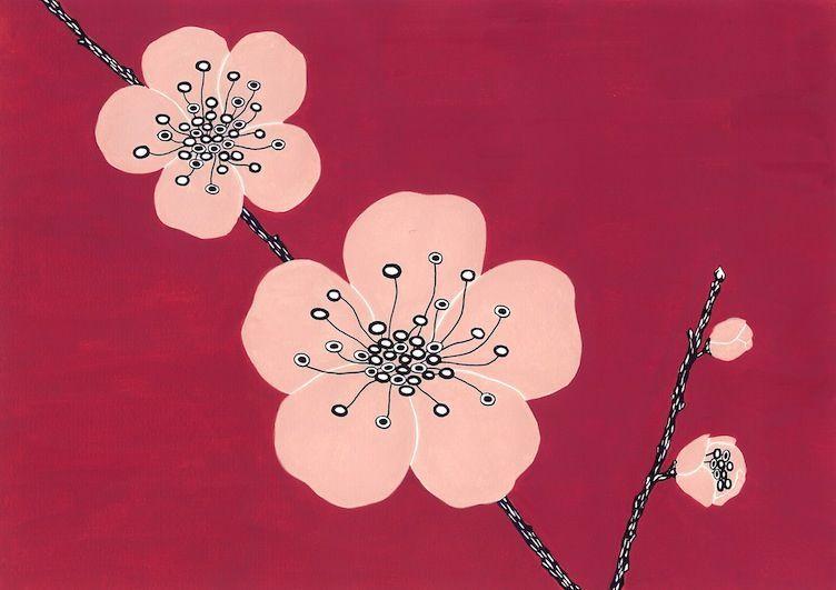Satoko-Wada-plum-flowers