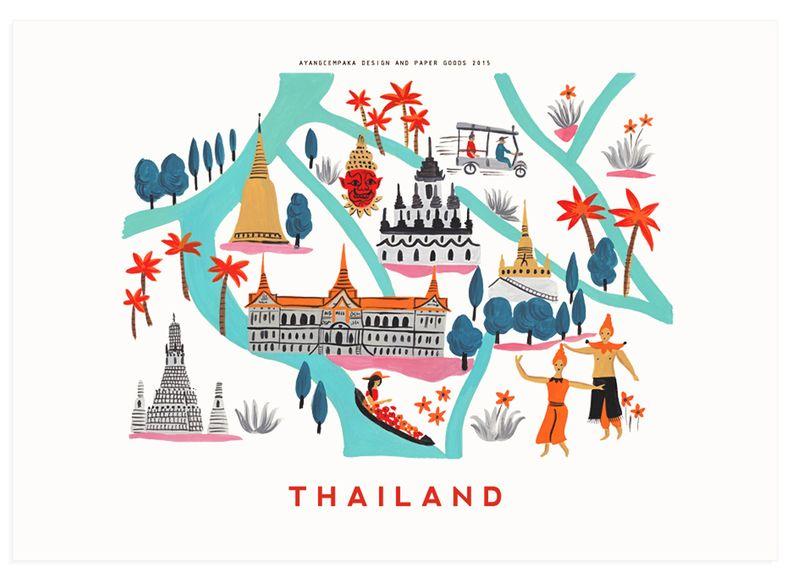 Thailand print by Ayang Cempaka